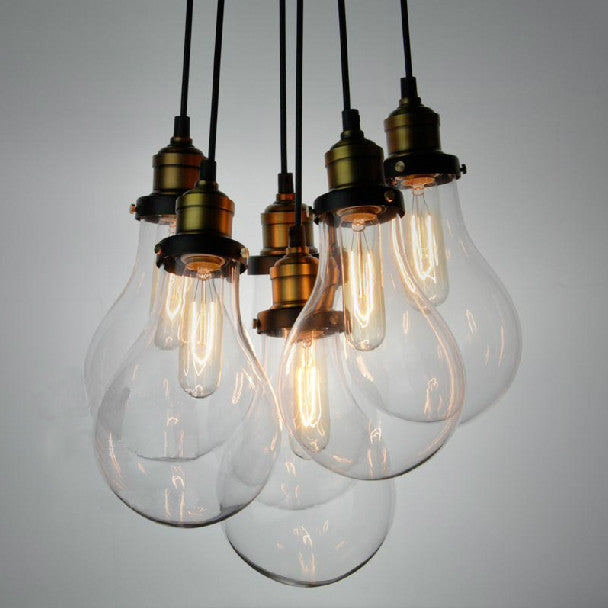 Big bulbs cluster pendant light chandelier tudoco tudo and co multiple big bulbs pendant light aloadofball Choice Image