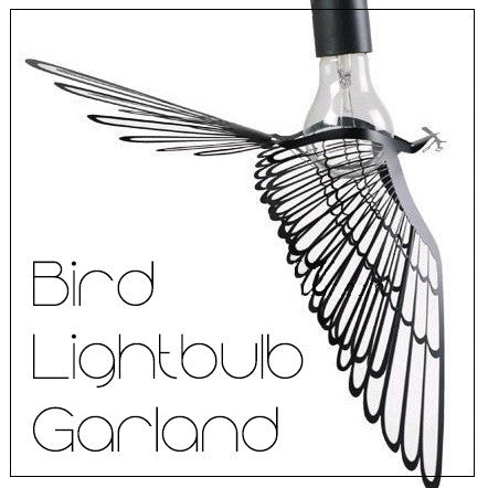 Bird Lightbulb Garland Pendant Light