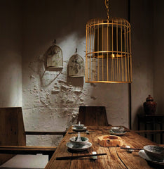 Bird Cage Pendant Light Chandelier dining room