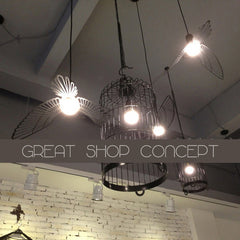 Bird Lightbulb Garland Pendant Light in shop