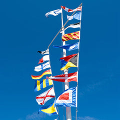 International marine time navy signal flags