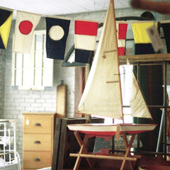 International marine time navy signal flags home decor