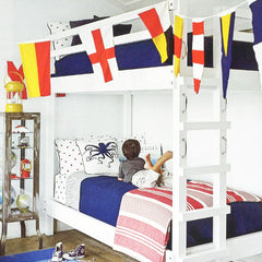 Naval signal flags decor