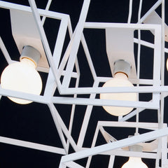 Cube Box Frame Cluster chandelier - white detail