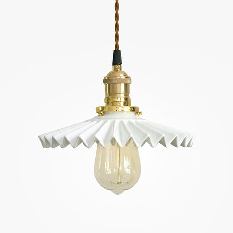 Ceramic fluted Pendant Light