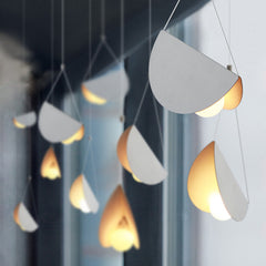 White glider pendant light chandelier product image