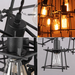 Bismuth Cube Cluster Pendant Light Chandelier - details