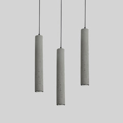 Long Concrete Pipe Pendant Light
