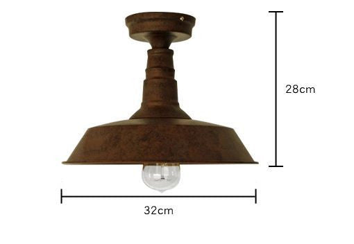 Retro Rustic Industrial Fixed Ceiling Light Tudo And Co