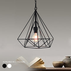Geometric Diamond Cage Modern Minimalist Pendant Light