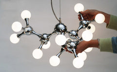 15 light Chrome Molecule Light sizing