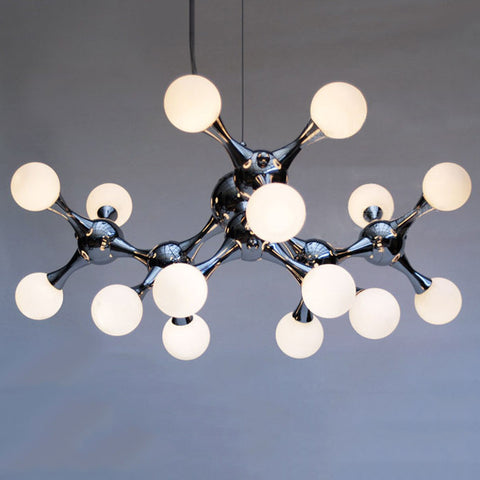 15 light Chrome DNA Molecule Pendant Light Chandelier