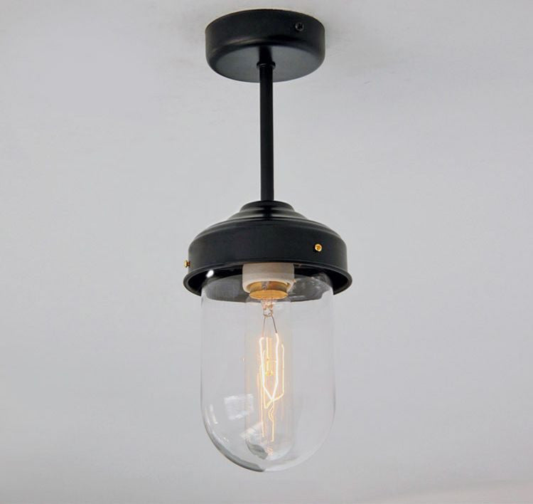 Dome Ceiling Lights: Glass Dome Retro Vintage Style Ceiling Light.