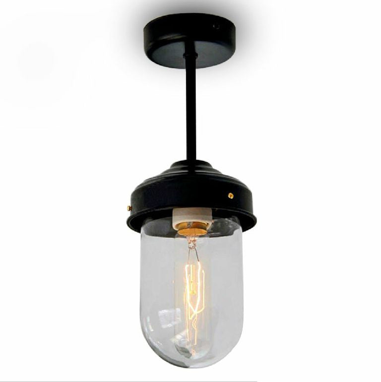 Glass Dome Retro Vintage Style Ceiling Light Tudo And Co