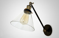 Glass Lamp Shade Wall Sconce Light