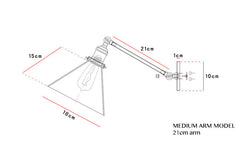 Glass Lamp Shade Wall Sconce Light schematic