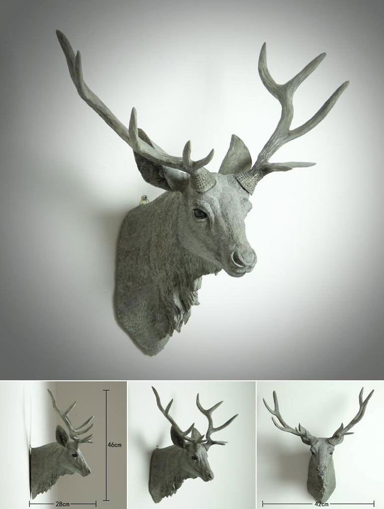 Animal head bust wall decor tudo and co tudo and co animal bust deer rhino bust buck antelope amipublicfo Gallery