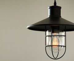 Harbour Industrial Rustic Pendant Light. Retro Loft Inspired Design.