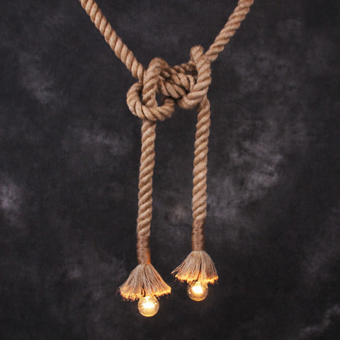 Hemp / Hessian Nautical Rope Pendant Light