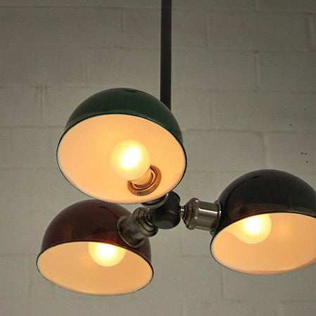 Tri-Cap Art Deco Retro Ceiling Light