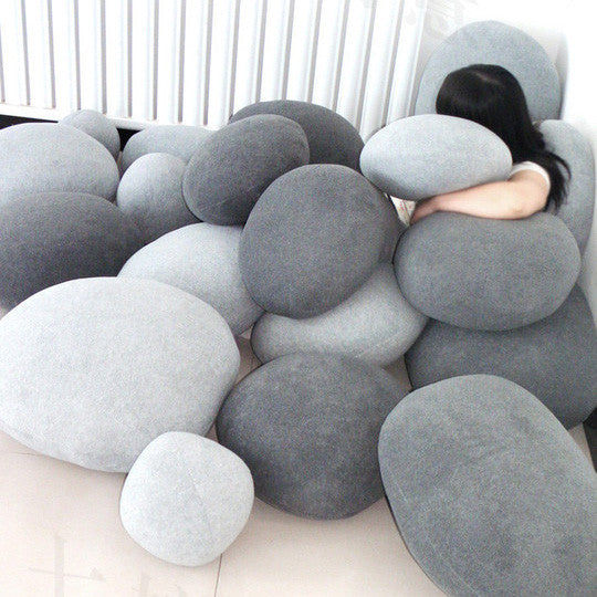 Rock Floor Pillows : Pebble Stone Pillow Cushion Cover (Pack of 6) ? Tudo And Co