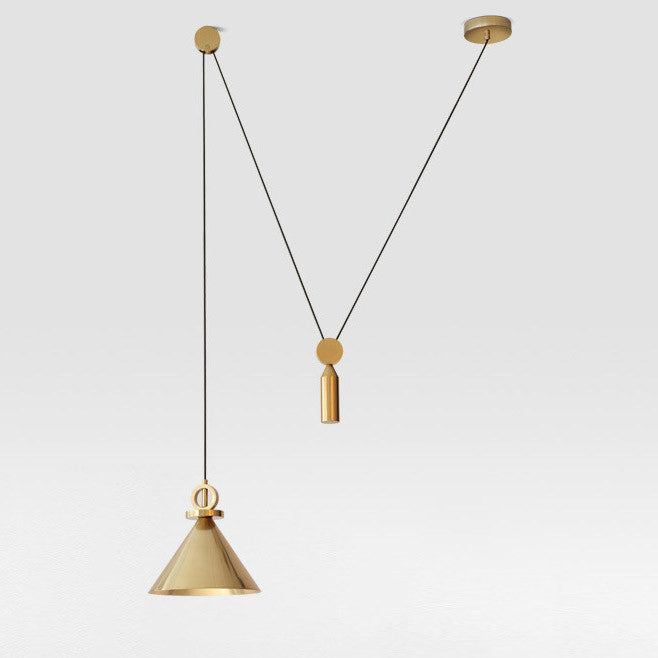 Pure gold pulley pendant light  sc 1 st  Tudo And Co & Pure gold pulley pendant light - Tudou0026Co u2013 Tudo And Co