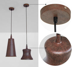 Contemporary Design Pendant Ceiling Light With Rustic Finish