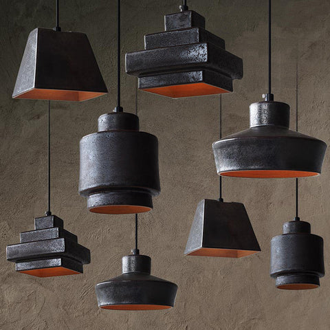 Lustre Black Ceramic Pendant Light Replica