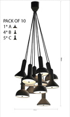 Torch Pendant Light 10 head chandelier