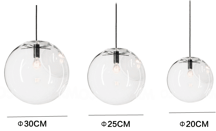 Glass lamp shade bubble ball minimalist modern simple tudo and co glass bubble lamp shade pendant ceiling light aloadofball Image collections