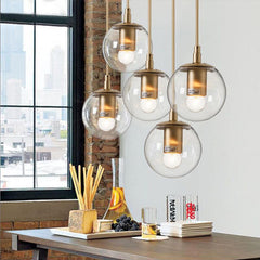 Ritz single pendant light clear glass