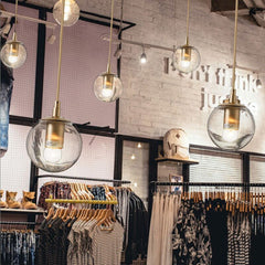 Ritz single pendant light clothing store