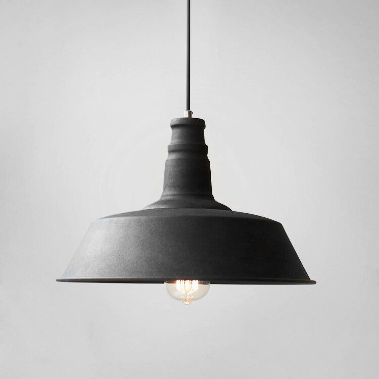 Retro Industrial Pendant Light In Black Tudo And Co