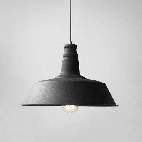 Retro Industrial Pendant Light In Black