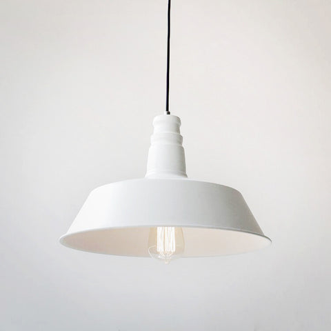 Vintage Industrial Pendant Light In White Colour