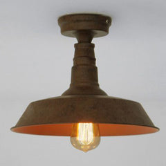 rustic vintage industrial ceiling light with edison bulb