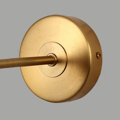 Brushed brass frost bulb wall light sconce - details