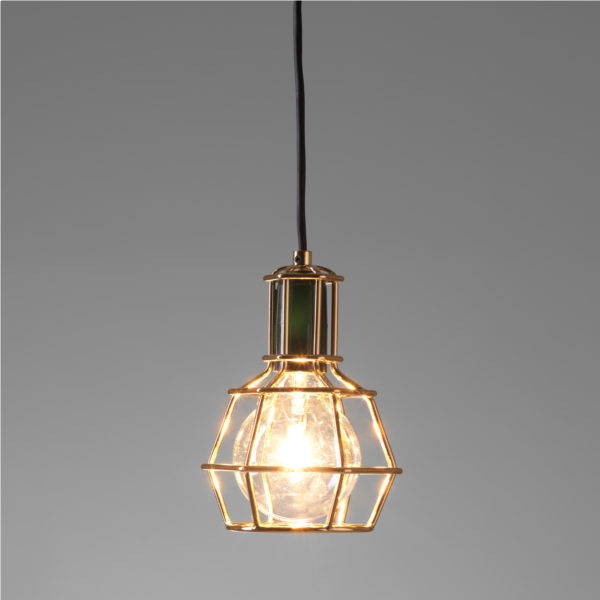 replica work lamp by form us with love chrome or gold cage lighting pendants