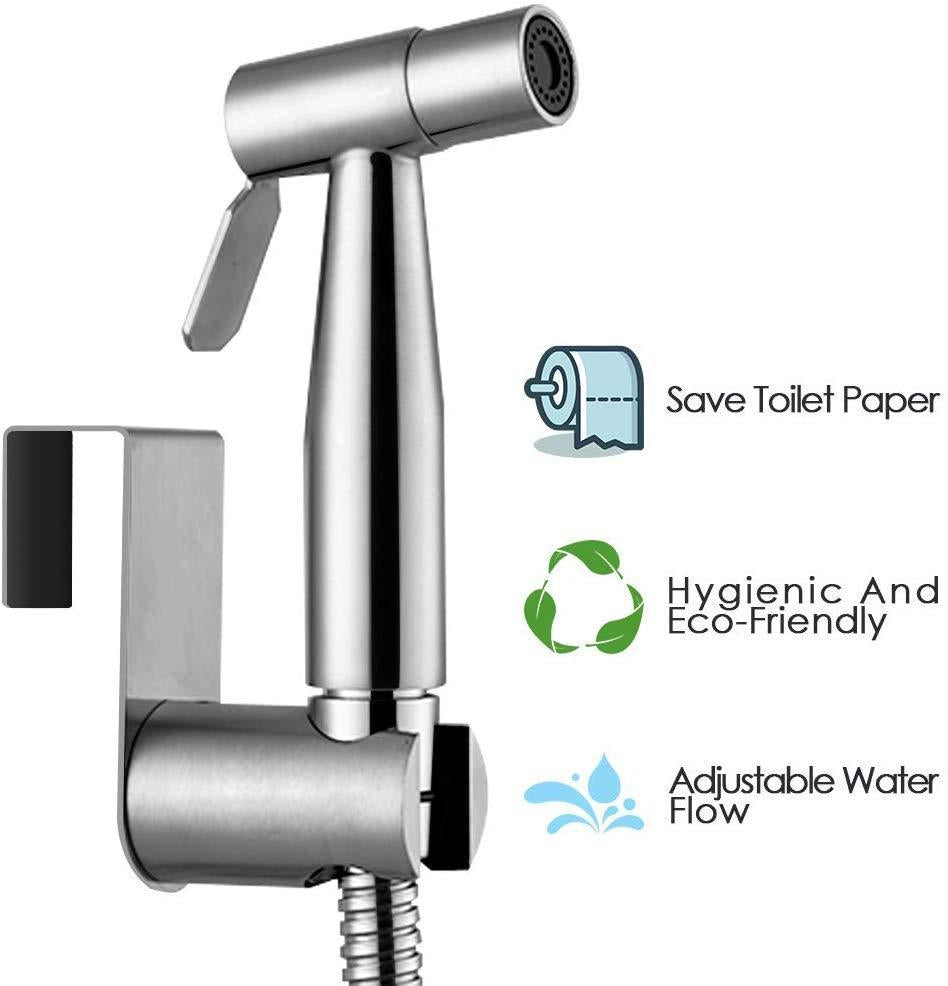 Handheld Bidet Sprayer Kit-Adjustable Pressure Control