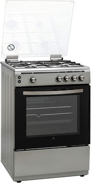 Hoover 60x60 Full Gas Cooker, Siver - FGC6060-S1V (Made In TURKEY)