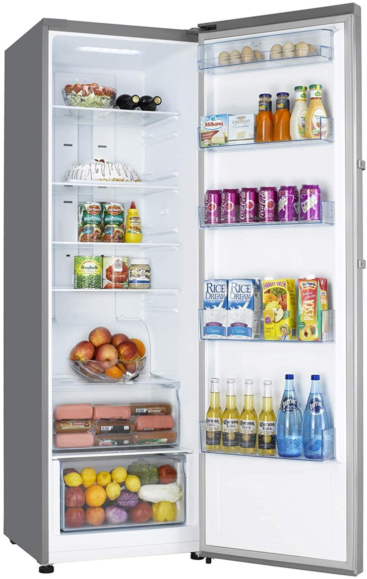 Hoover 365 Liters Upright Refrigerator, Steel - HSL365L-S