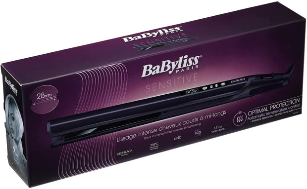 BaByliss BABST450SDE Hair Straightener, 28mm - Black/Purple - Jashanmal Home