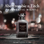 ABERCROMBIE & FITCH-AUTHENTIC NIGHT FOR MEN EAU DE TOILETTE 100ML NATURAL SPRAY