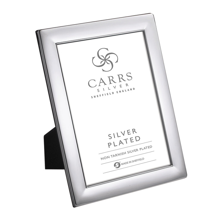 Carrs Silver of Sheffield Plain Silver Plated Frame with Wood Back - WPX4-SP