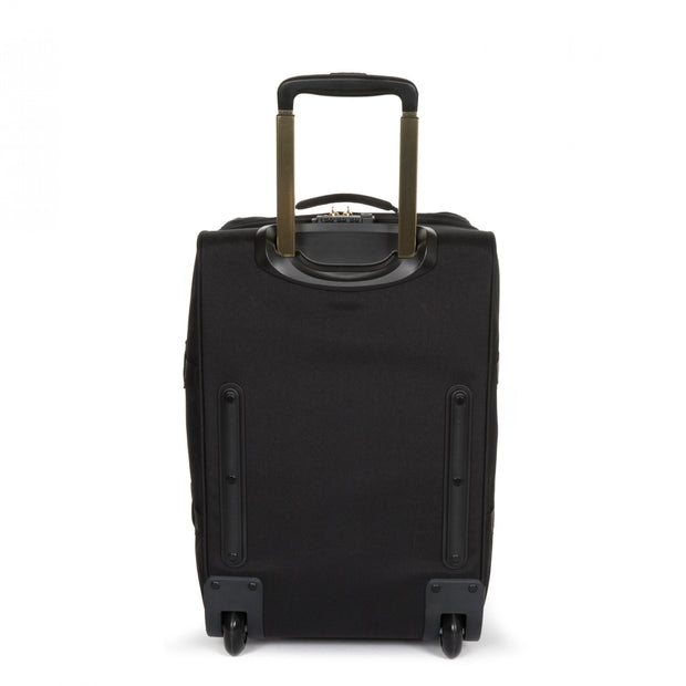 Eastpak-TRANVERZ S-Cabin sized wheeled luggage-Goldout Black-Gold-EK61L30Z