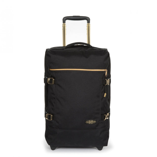 Eastpak Tranverz S Goldout Black-Gold Cabin Luggage - Ek61L30Z