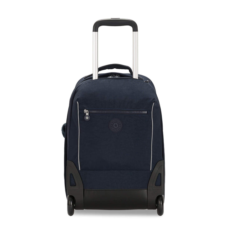 Kipling-Sari-Kids' Large Wheeled Backpack with Laptop Compartment-True Blue Tonal-I2549-4DX