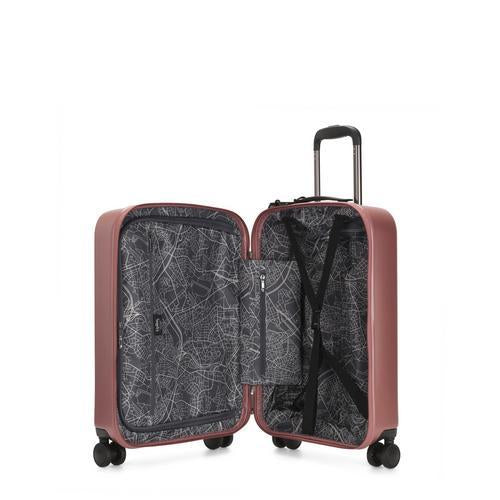 Kipling-Curiosity S-Small cabin size wheeled luggage-Metallic Rust-I4217-48P