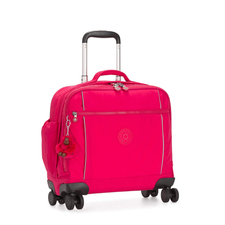 Kipling-Storia-Kids' 4-Wheeled School Bag with Laptop Compartment-True Pink-I6863-09F