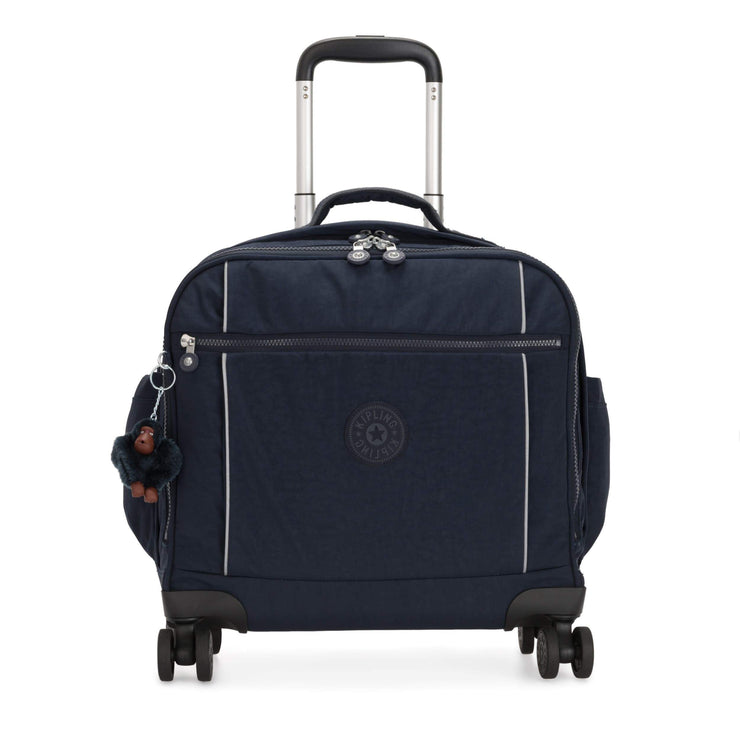 Kipling-Storia-Kids' 4-Wheeled School Bag with Laptop Compartment-True Blue Tonal-I6863-4DX